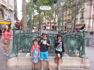 my children in Paris, August 2015