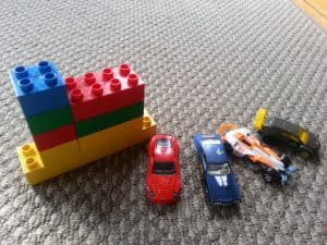 Hot Wheels and Lego, travel toys