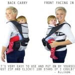 nimnik front and back pack carrier