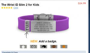 emergency bracelet road id