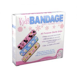 bandaid with child-friendly designs