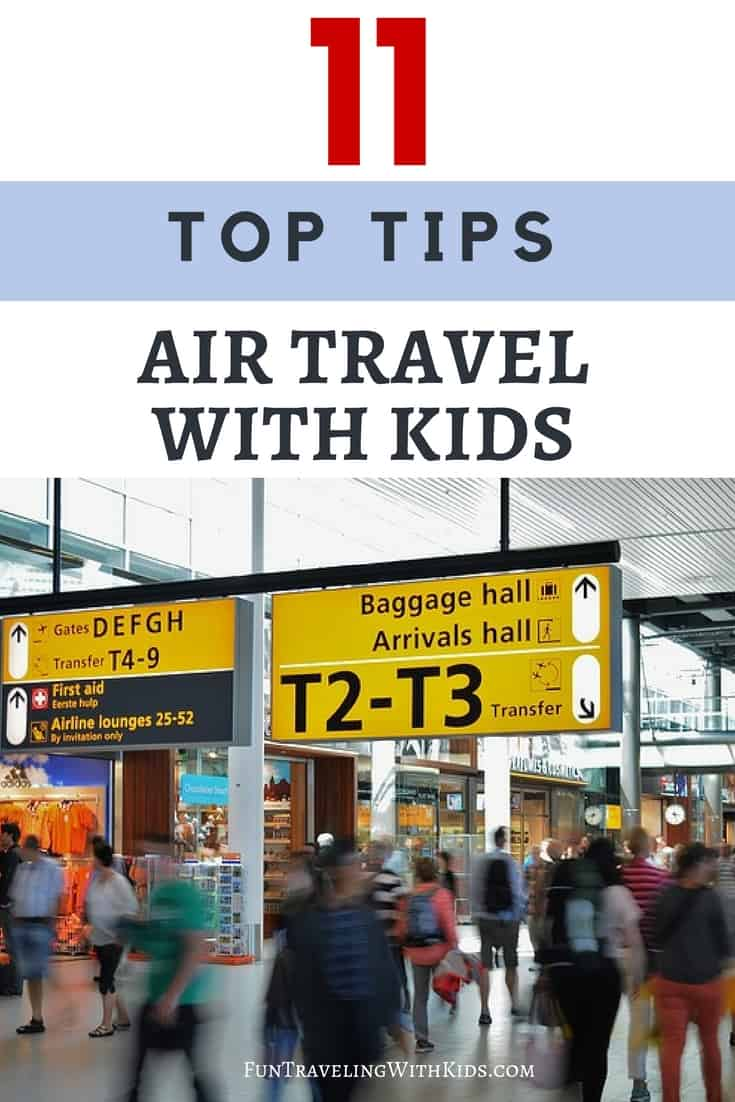 top tips for air travel with kids
