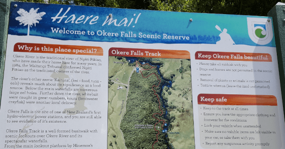 Okere Falls information panel