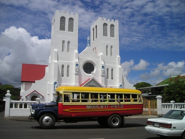 sunday church Samoa