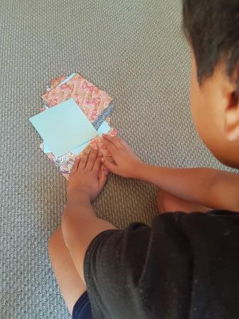 Arthur is doing Origami