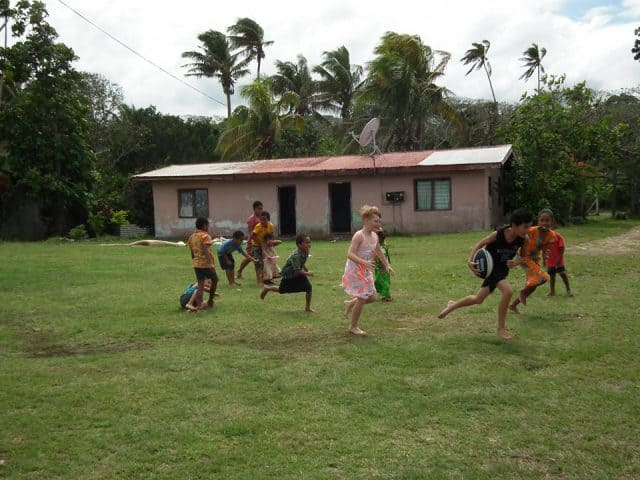 visit to a local village in Fiji
