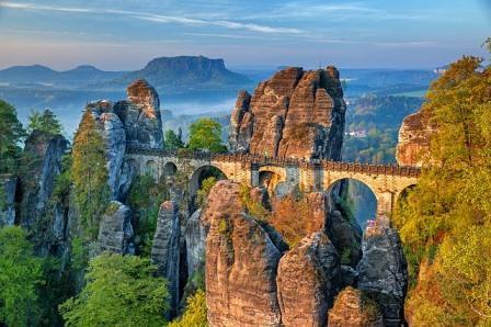 bastei bridge , Saxon Switzerland