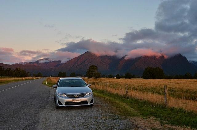 beautiful sunset in New Zealand