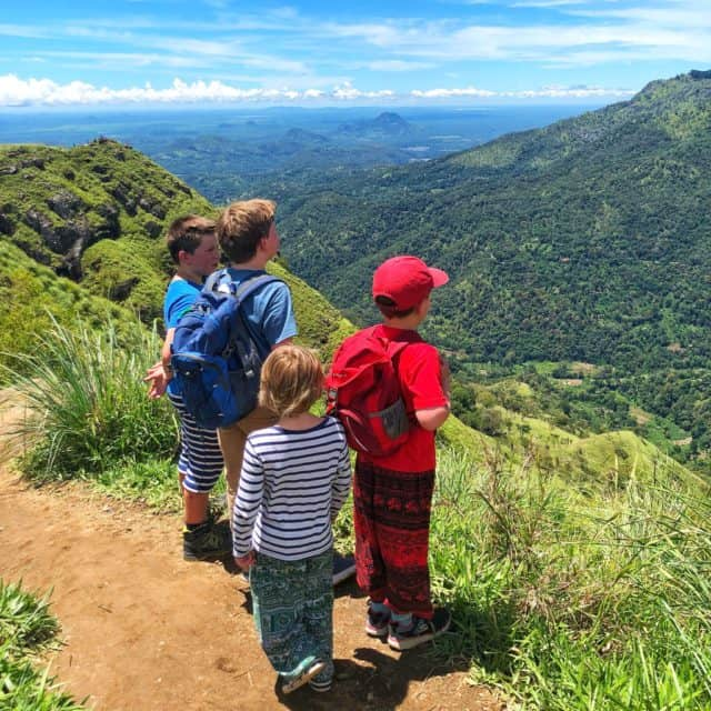 little adams peak with kids